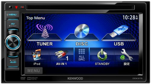KENWOOD MP3/WMA/AAC/WAV対応DVD/USBレシーバー DDX375