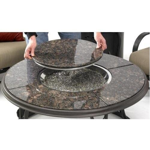 truly an a table for entertaining the 42 round chat fire pit table