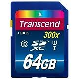 Memoria SDXC Transcend de 64GB, de alta velocidad. clase 10 (TS64GSDU1)