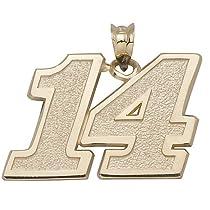 LogoArt Tony Stewart 1/2 Inch 14K Gold Medium Number Pendant - Tony Stewart Each