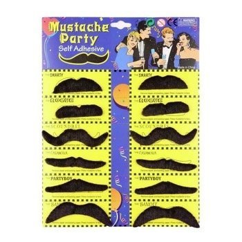 [Mustache Party Fake Mustache Novelty & Toy, Great Dress Up Acccessories, Costume props, and Photo Booth Props-Pack of 24] (Fake Mustache Kit)