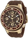 Swiss Legend Men's 21848P-YG-04 Neptune Brown Dial Brown Silicone Watch