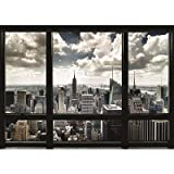 (39x55) New York City Window Huge Poster