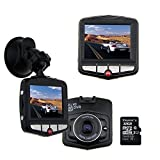 AUBBC Full HD 1080P Car Vehicle HD Dash Camera DVR Cam Night Vision Recorder with 32GB Micro SD Card Black