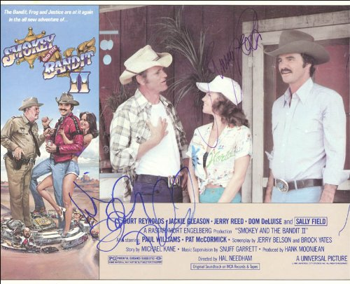 Smokey And The Bandit 2 Movie Cast - Lobby Card Signed Co-Signed By: Jerry Reed, Sally Field front-1035392