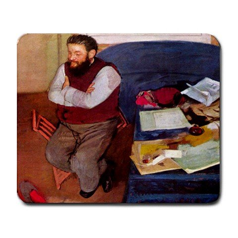 Portrait of Diego Martelli By Edgar Degas Mouse Pad