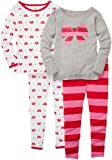 Carters Little Girls 4-Pc L/S PJ Set