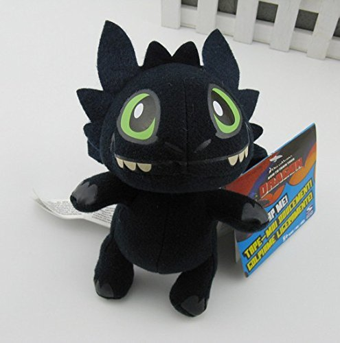 [How To Train Your Dragon 2 Toothless Cute Night Fury Dragon Buddies Plush Toy 7] (Kids Toothless Night Fury Costumes)
