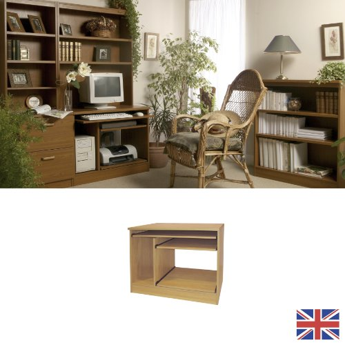 Home Office Furniture - Fully Assembled - Computer Workstation - Teak - Three Slide-out Shelves - Wood Effect... WE ALSO MAKE UNITS FOR: art craft sewing knitting hobbies stamp collecting games writing working from home student desk interior design STORAG
