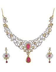 Ashapura Gold Plated Necklace With Dangle & Drop Earrings For Women - P0945