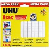 Saunders Uhu Tac Mega Pack, Adhesive Reusable Putty, 4.23 oz. (120g), 160 Pads (41555)