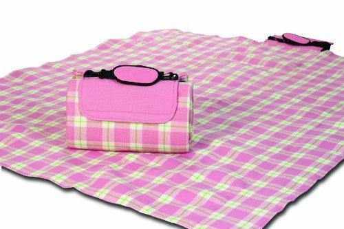 picnic-plus-mega-mat-waterproof-picnic-stadium-blanket-with-shoulder-strap-pink-plaid-by-spectrum