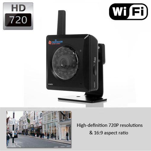 Trivision Nc-227Wf Hd 720P Wireless Ip Security Camera With 1280 X 720 Hd Pixel Video And Install In 3 Steps With Our Free Dedicated Apps On Iphone, Ipad, Android Smartphone And Tablet