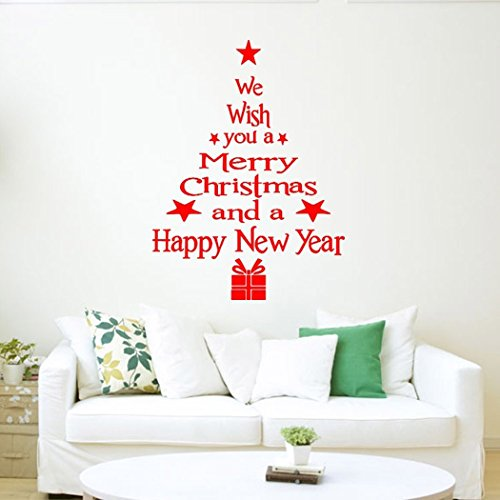 Coxeer Christmas Wall Stickers Wall Quotes Removable Wall Decals (Removable Wall Decal Quotes compare prices)