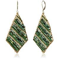 [アマンダ・ステレット] AMANDA STERETT 天然石ストライプスクエアピアス F2113 Earrings