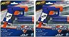 Nerf N-Strike Jolt Blaster (blue) 2 Pack - 2 BLASTERS and 4 DARTS