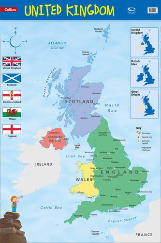 United Kingdom: Wall Map (Collins Primary Atlases) PDF