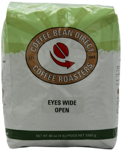 Coffee Bean Direct Eyes Wide Open Blend, Whole Bean Coffee, 5-Pound Bag