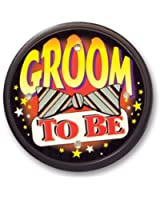 Beistle FB61 Groom to be Flashing Button, 21/2-Inch