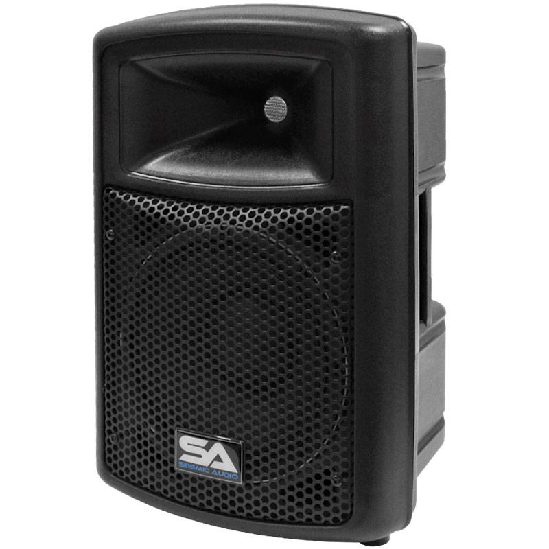 seismic audio pws 10 pro audio pa dj powered 10 speakers lightweight molded. Black Bedroom Furniture Sets. Home Design Ideas