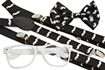 Hipster Nerd Outfit Kit - Mustache