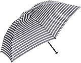 (ムーンバット)MOONBAT(ムーンバット) シュプレコリン 軽量婦人ミニ雨傘 ボーダー柄 21-402-08300-02 74-50 ネイビー 50cm