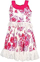 Euphoria Girls' Dress (SKU286F, Multi-Coloured, 6-7 Years)
