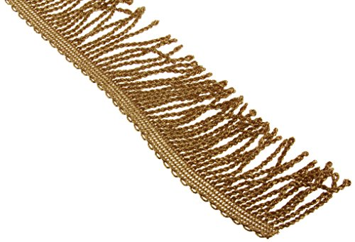 "Review Metallic Bullion Fringe 2"" Wide 9 Yards-Gold"