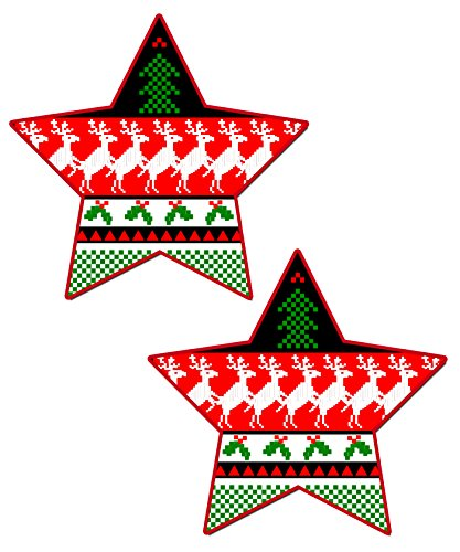 Ugly Sweater Star Nipple Pasties By Pastease O/S