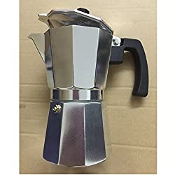 Alpha Coffee Espresso Maker Stovetop. 6 Cup Moka Pot. Italian Design Premium Aluminum Commercial Grade Coffee Machine from Alpha Coffee
