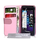 Blackberry Z10 Case Baby Pink PU Leather Wallet Coverby Yousave Accessories