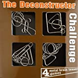 The De-constructor Challenge: 4 Metal Brain Teaser Set (1-1-4)