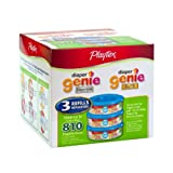 Playtex Diaper Genie Refill (810 count total - 3 pack of 270 each) ~ Playtex