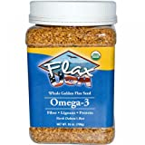 Inc., Whole Golden flax Seed, Omega-3, 25 oz (709 g)