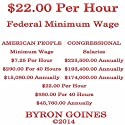 $22.00 Per Hour Federal Minimum Wage (       UNABRIDGED) by Byron Goines Narrated by Byron Goines