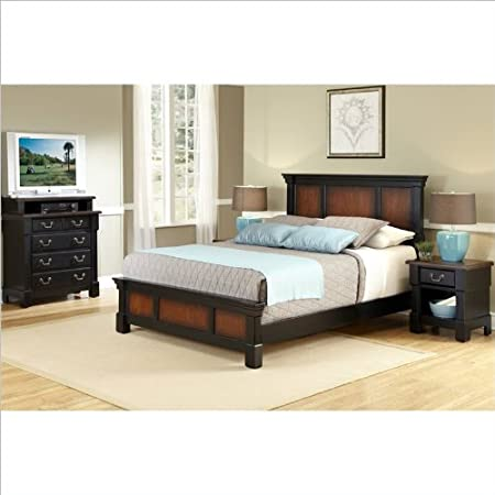 Home Styles The Aspen Collection Bedroom Set in Black Cherry