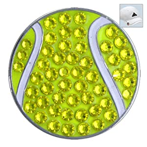 Buy Bella Swarovski Crystal Golf Ball Marker & Hat Clip - Tennis Ball by Bella