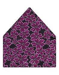 Tiekart Floral Print Micro Fibre Pocket Square (Ps311_Purple)