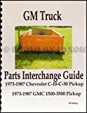 1973-1987 GMC and Chevy Truck Parts Interchange Manual