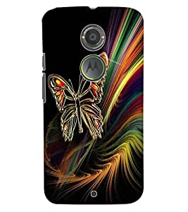 ColourCraft Butterfly Design Back Case Cover for MOTOROLA MOTO X2