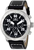"""Invicta Men's 16753 """"Specialty"""" Stainless Steel Watch with Black Leather Band"""