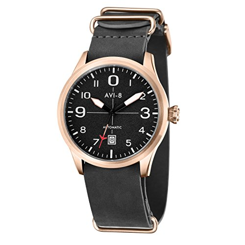 avi-8-mens-flyboy-automatic-watch-with-black-dial-analogue-display-and-black-leather-strap-av-4021-0