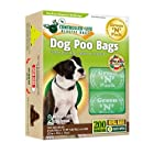 Green N Pack Dog-Waste Refill Bags, Compact Refill Packs, 200 Bags, 10 Rolls (More Bags & Less Waste) not 200 Bags in a Re-closable Box, (10 Rolls)