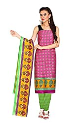 Aryahi Women's Cotton Dress Material (70494_Pink)
