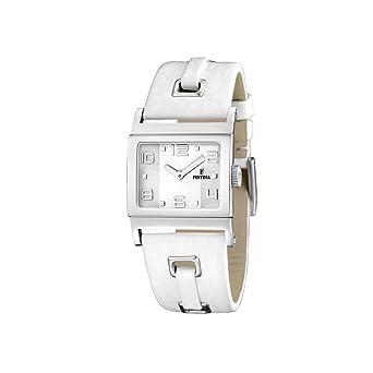 96ce249821 Festina - F16475/1 - Montre Femme - Quartz - Analogique - Bracelet Cuir  Blanc
