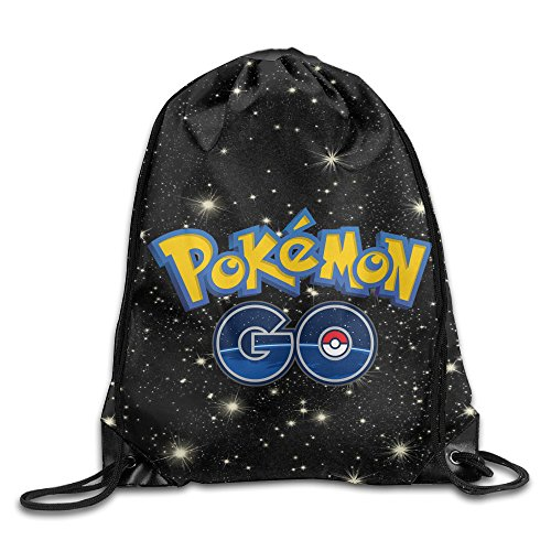 KIKI1890 Pokemon Go Drawstring Backpack Gym Sack Pack Polyester