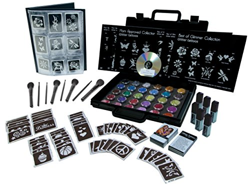 Glimmer Body Art Temporary Tattoo Pro Party Kit (Tattoo Kit For Kids compare prices)
