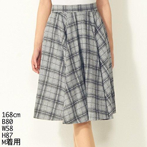 セシルマクビー(CECIL McBEE) スカート(チェック柄サーキュラースカート)【グレー/M】