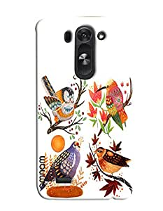Omnam Beautiful Bird Pattern Printed Designer Back Cover Case For LG G3 Beat