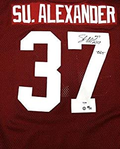 Shaun Alexander Signed Jersey - Alabama 3565 #18 37 #S76472 - PSA DNA Certified -... by Sports+Memorabilia
